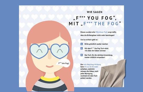 F*** YOU FOG – Mikrofaser-Tuch